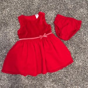 Baby Girl red Holiday dress — 9M